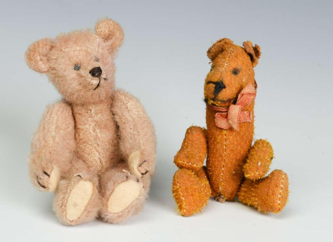 TWO ANTIQUE MINIATURE TEDDY BEARS