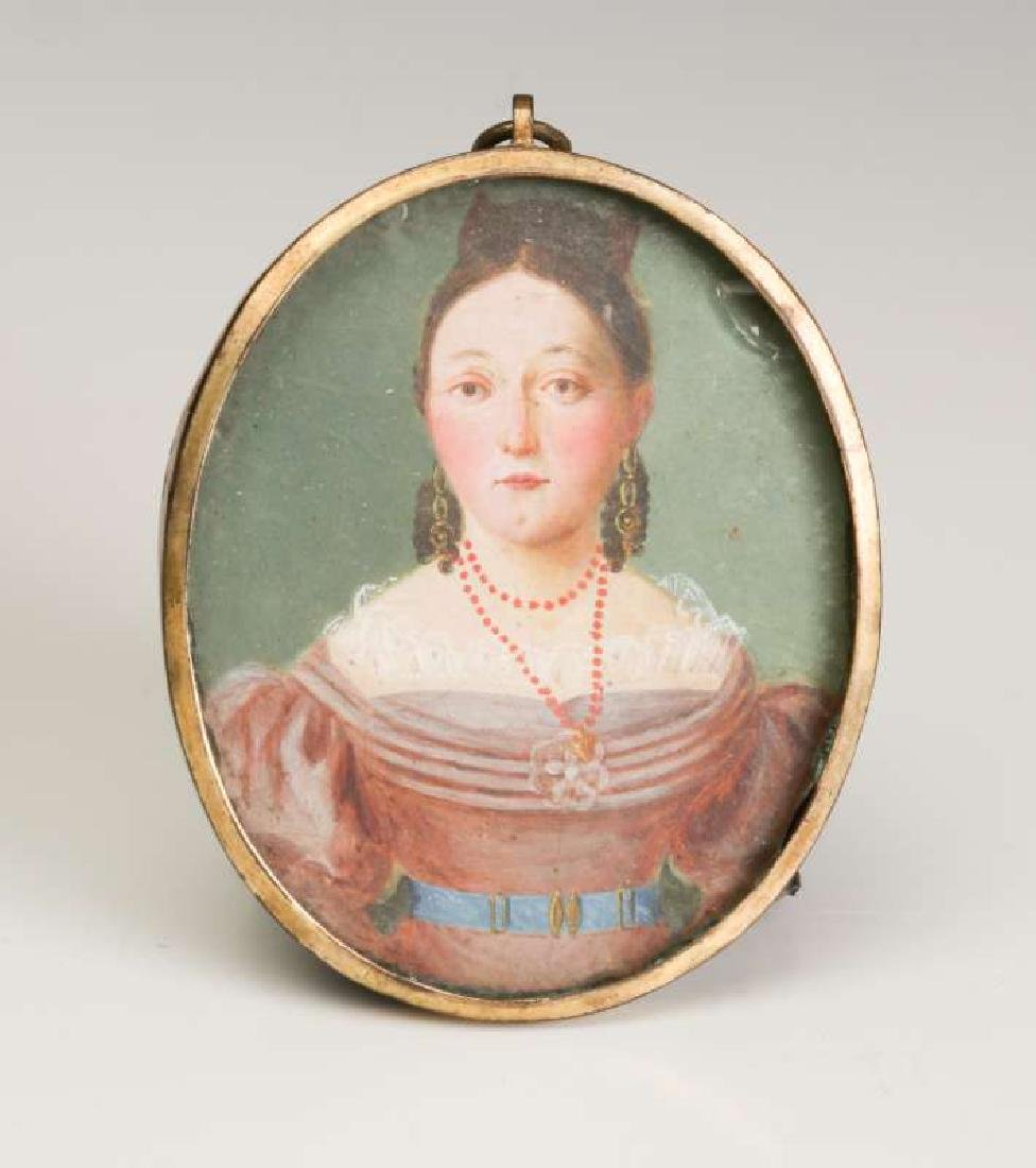 A GOOD 19TH CENTURY AMERICAN PAINTED MINIATURE PORTRAIT