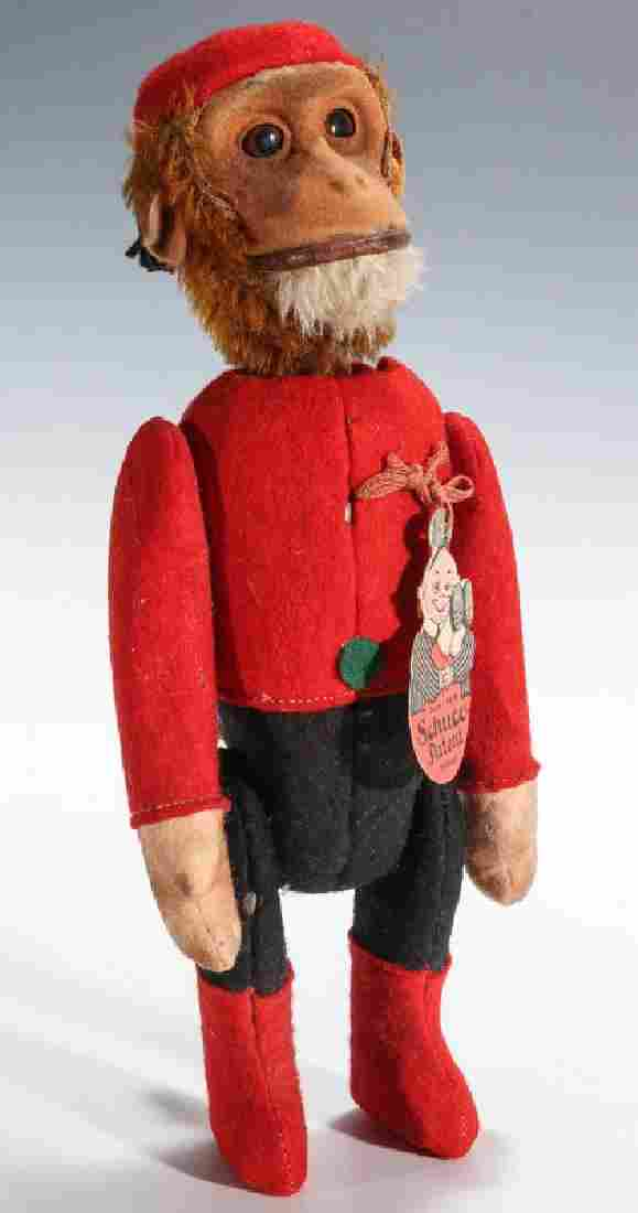 A LARGE SCHUCO YES-NO BELLHOP MONKEY WITH ORIG TAG