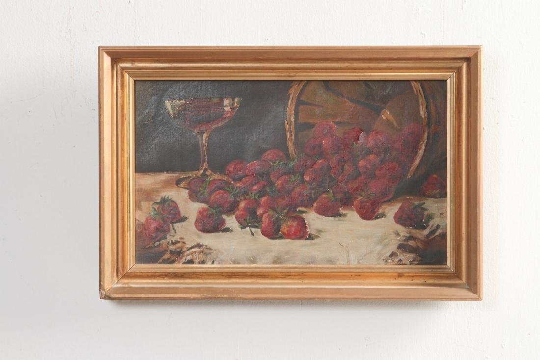 THREE 19TH CENTURY FRUIT STILL LIFE OIL PAINTINGS - 10