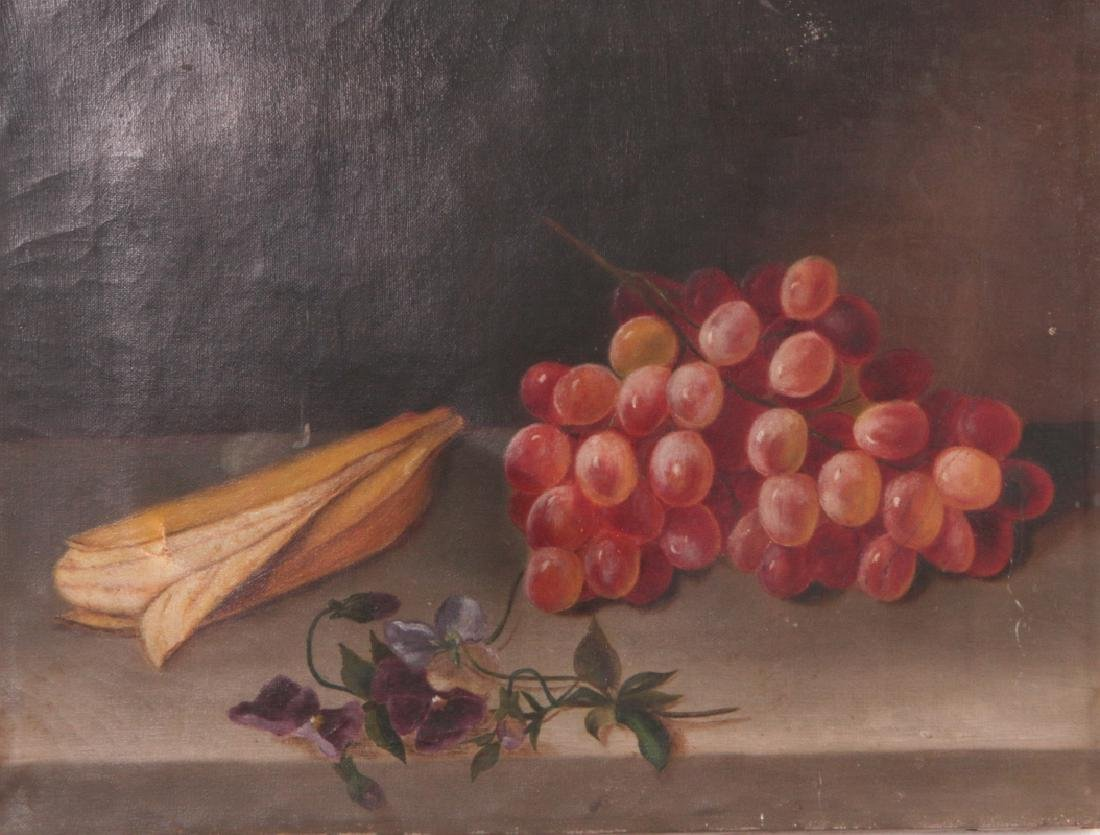 THREE 19TH CENTURY FRUIT STILL LIFE OIL PAINTINGS