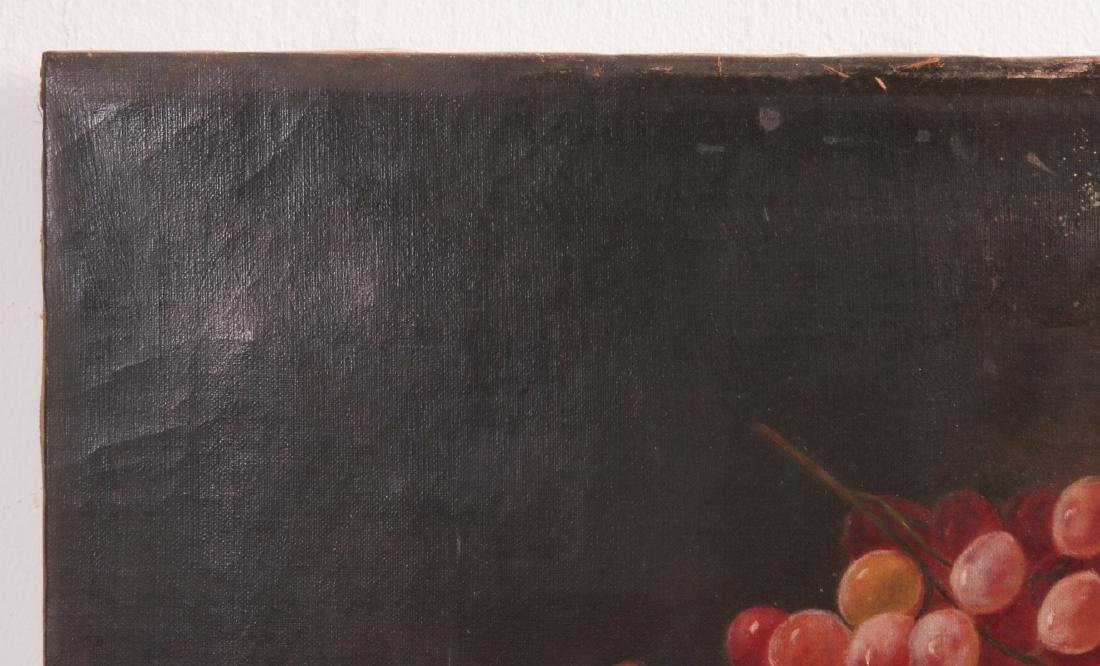 THREE 19TH CENTURY FRUIT STILL LIFE OIL PAINTINGS - 3