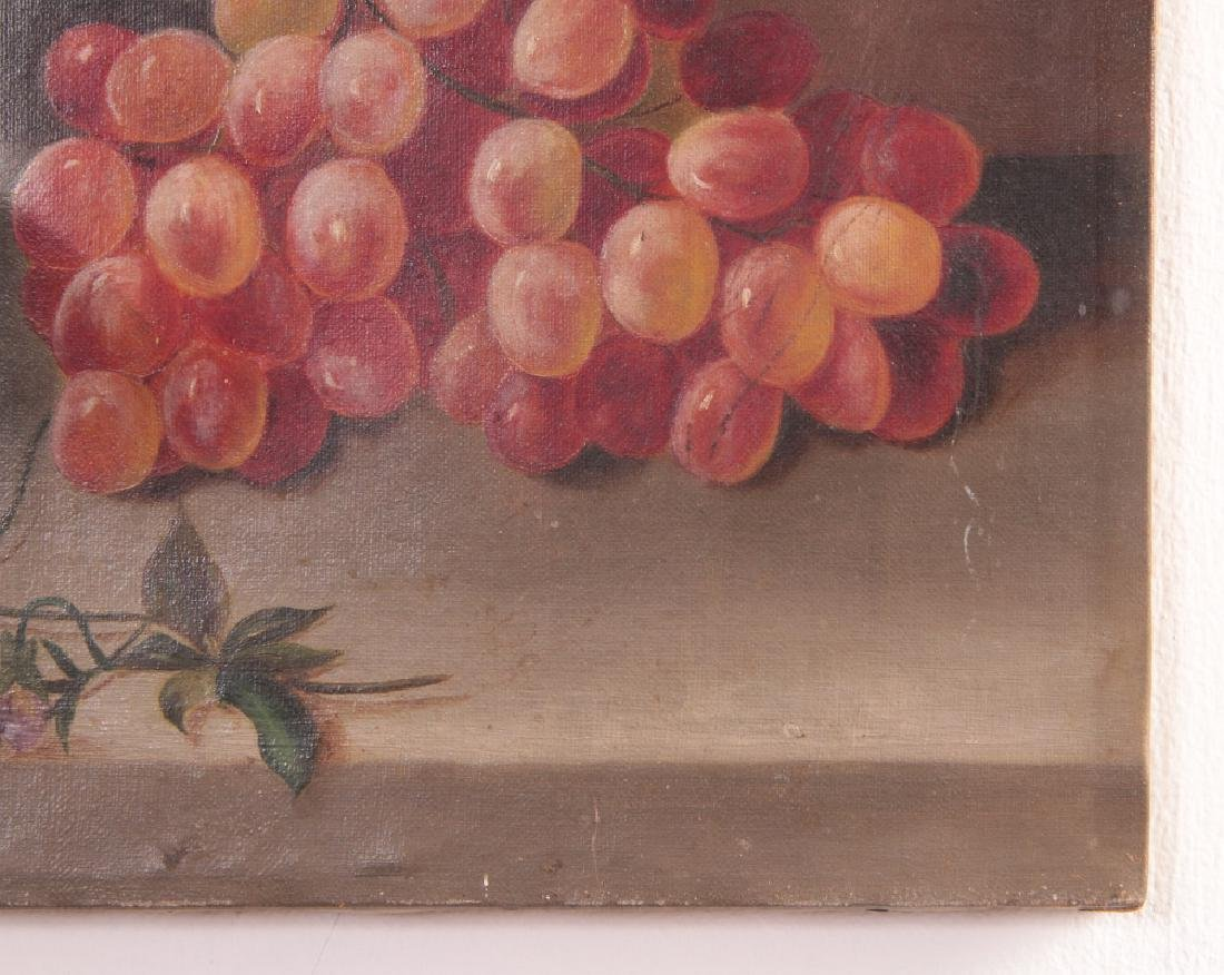 THREE 19TH CENTURY FRUIT STILL LIFE OIL PAINTINGS - 5
