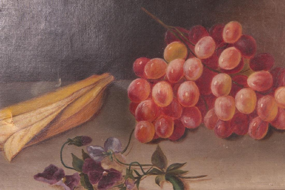THREE 19TH CENTURY FRUIT STILL LIFE OIL PAINTINGS - 7