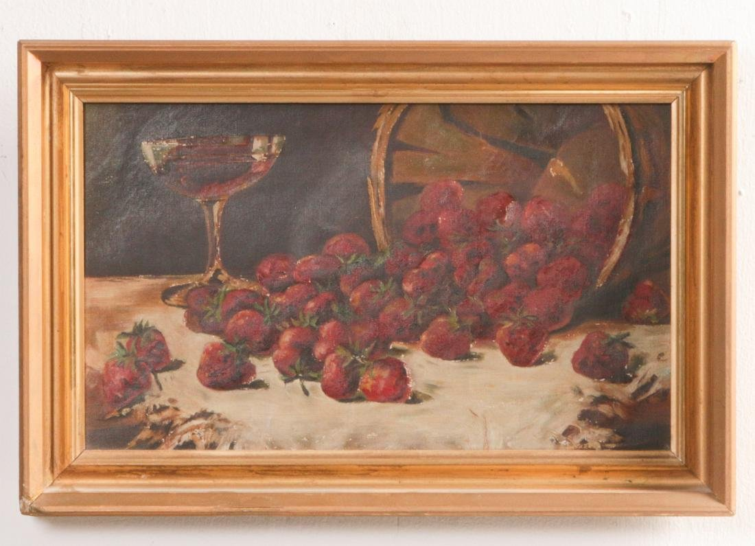 THREE 19TH CENTURY FRUIT STILL LIFE OIL PAINTINGS - 9