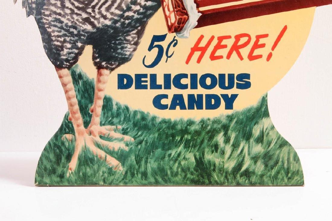 A 'CHICKEN DINNER' 5 CENT CANDY ADVTG SIGN C. 1940 - 4