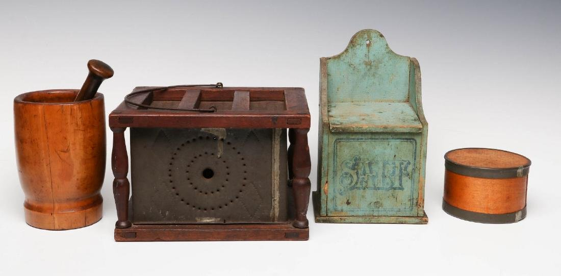 A GOOD COLLECTION OF 19TH CENTURY AMERICAN PRIMITIVES