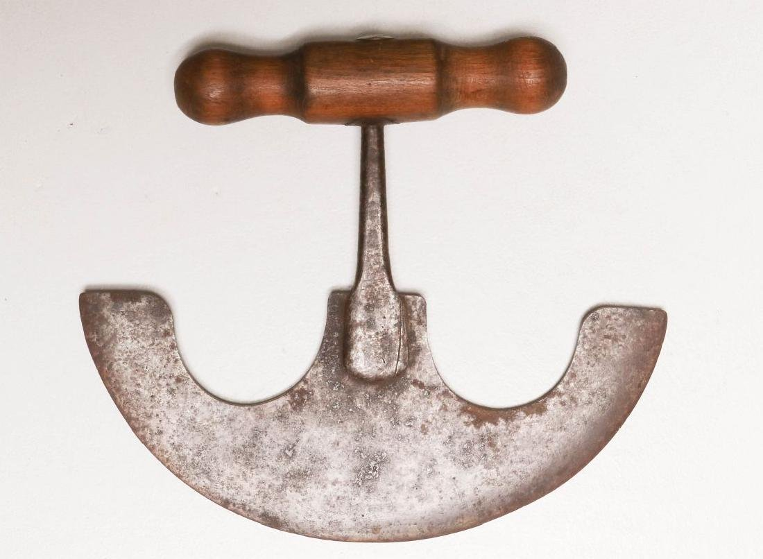 A COLLECTION OF 19TH CENTURY WOOD HANDLED FOOD CHOPPERS - 3