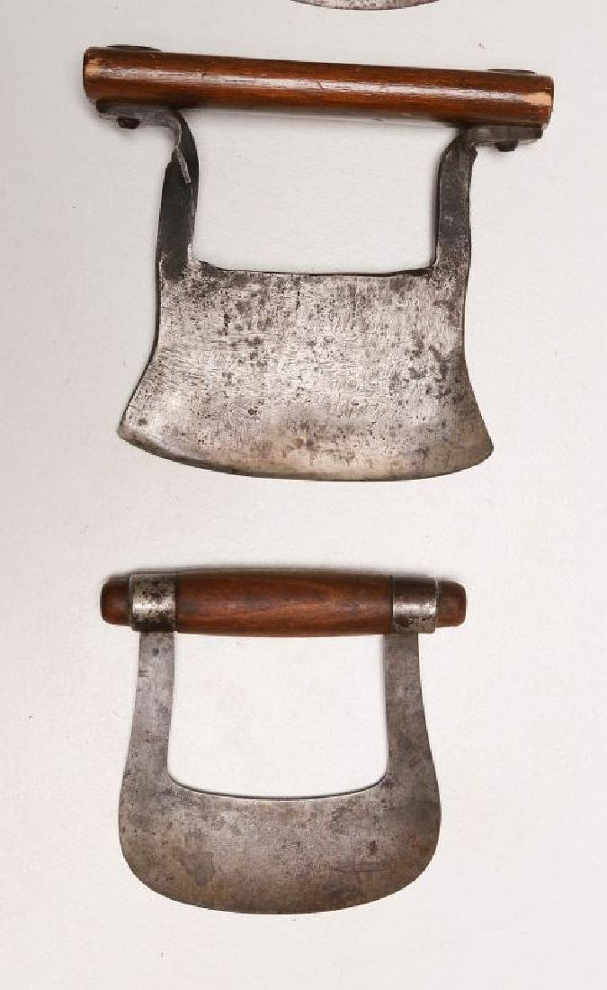 A COLLECTION OF 19TH CENTURY WOOD HANDLED FOOD CHOPPERS - 4