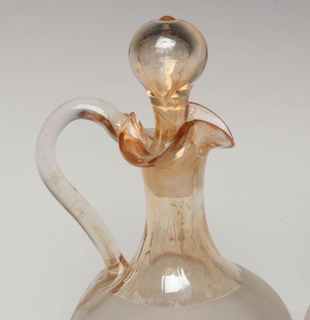TWO NEW ENGLAND GLASS CO POMONA GLASS CRUETS - 2