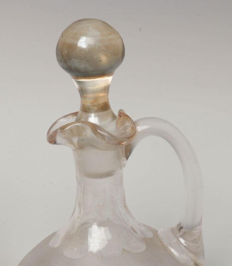 TWO NEW ENGLAND GLASS CO POMONA GLASS CRUETS - 3