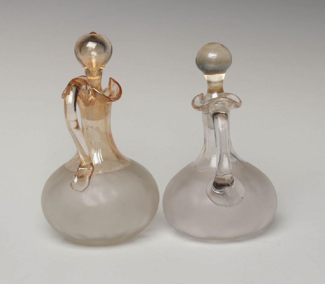 TWO NEW ENGLAND GLASS CO POMONA GLASS CRUETS - 4