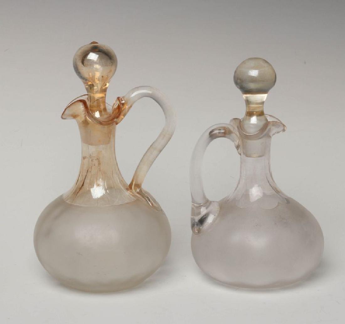 TWO NEW ENGLAND GLASS CO POMONA GLASS CRUETS - 5