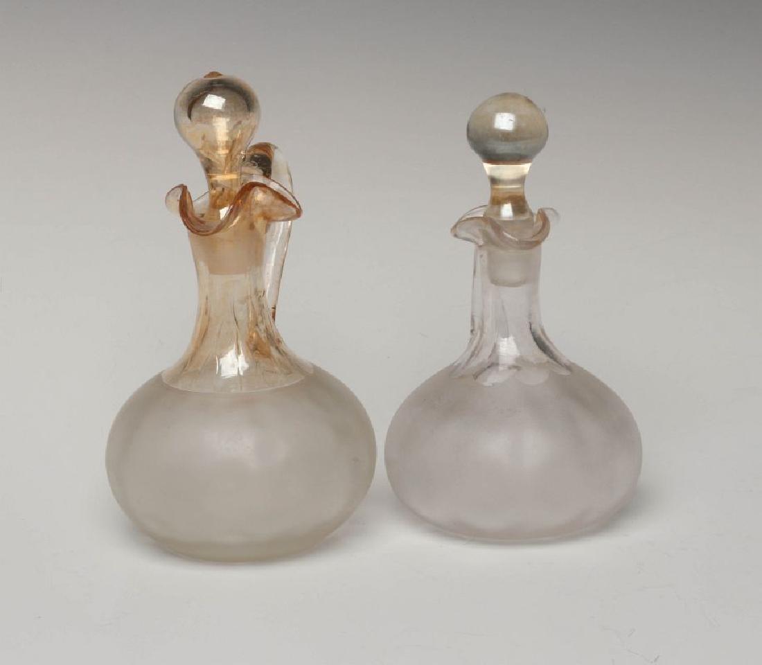 TWO NEW ENGLAND GLASS CO POMONA GLASS CRUETS - 6