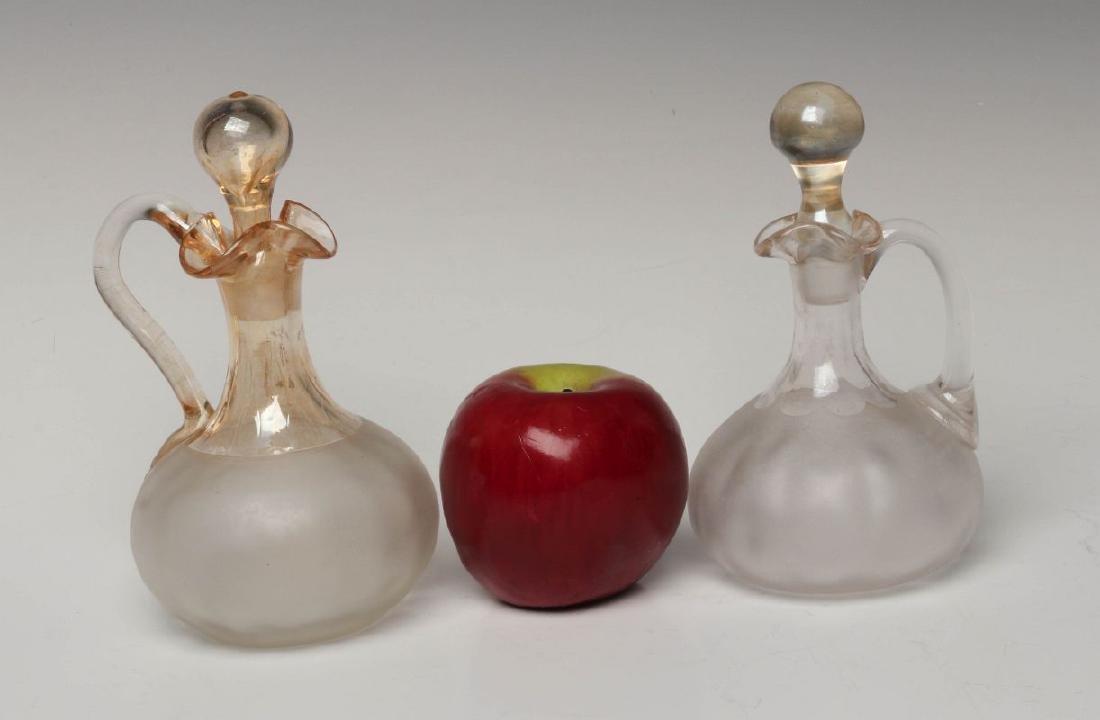 TWO NEW ENGLAND GLASS CO POMONA GLASS CRUETS - 7