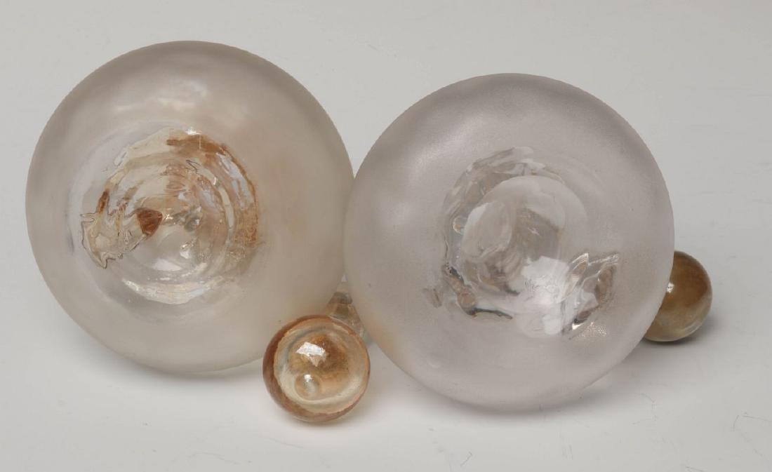 TWO NEW ENGLAND GLASS CO POMONA GLASS CRUETS - 8