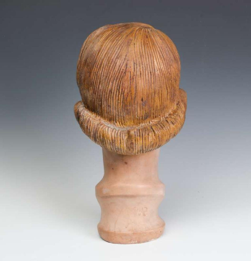 A NICE PAINTED PLASTER MANNEQUIN HEAD CIRCA 1940 - 5
