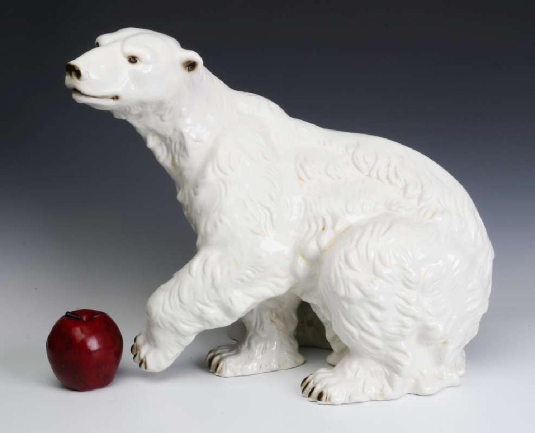 A VERY LARGE POLAR BEAR FIGURE SIGNED ROYAL DUX - 3