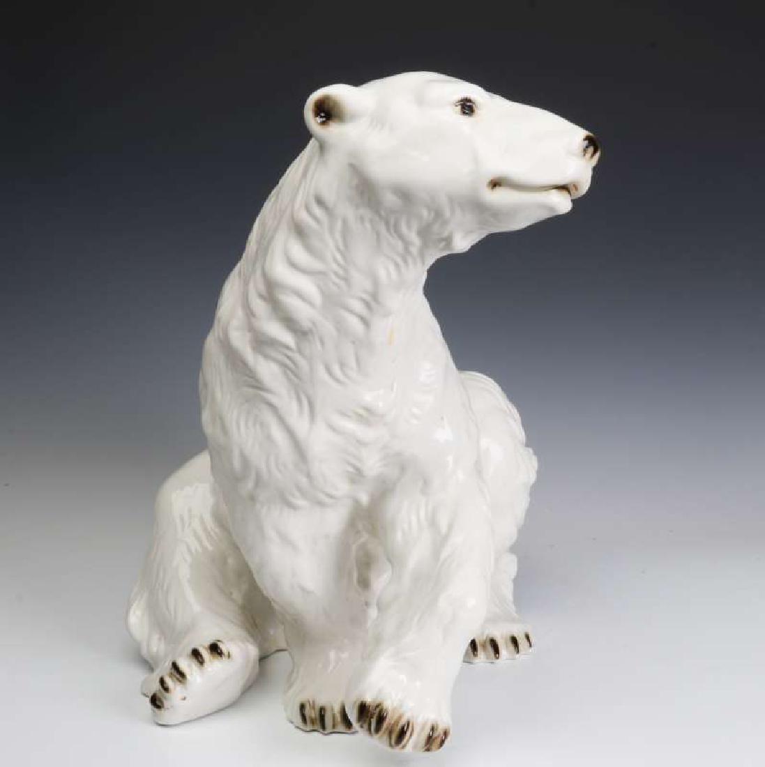 A VERY LARGE POLAR BEAR FIGURE SIGNED ROYAL DUX - 6