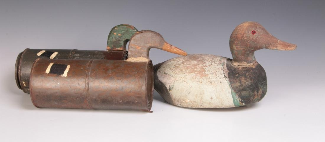 THREE ANTIQUE DUCK DECOYS