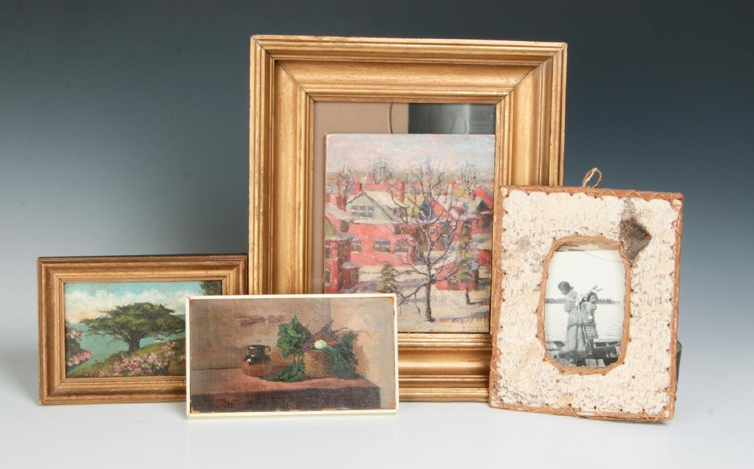 A COLLECTION OF GOOD SMALL PAINTINGS AND FRAMES