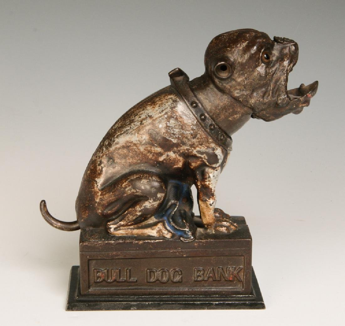 A 19TH CENTURY J&E STEVENS BULL DOG MECHANICAL BANK - 2