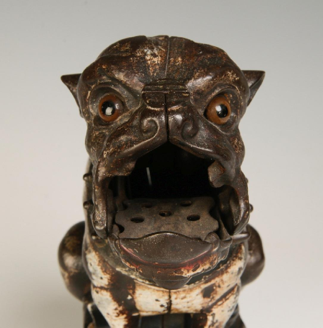 A 19TH CENTURY J&E STEVENS BULL DOG MECHANICAL BANK - 6