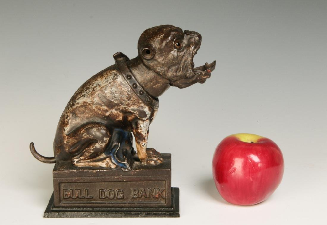 A 19TH CENTURY J&E STEVENS BULL DOG MECHANICAL BANK - 7