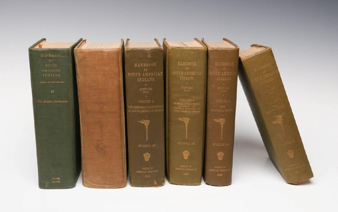 SIX VOLUMES OF HANDBOOK OF SOUTH AMERICAN INDIANS