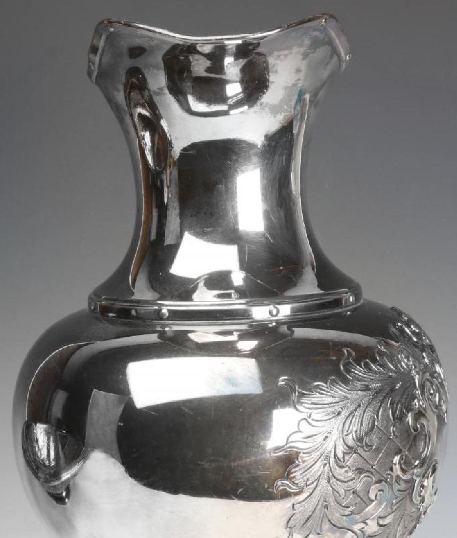 A LARGE AND UNUSUAL SILVER PLATE BOWL AND PITCHER - 11