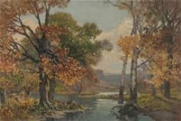 LEBRUN JENKINS MISSOURI 18761952 OIL ON PANEL