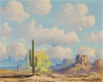 THOMAS L. LEWIS (1907-1978) OIL ON CANVAS