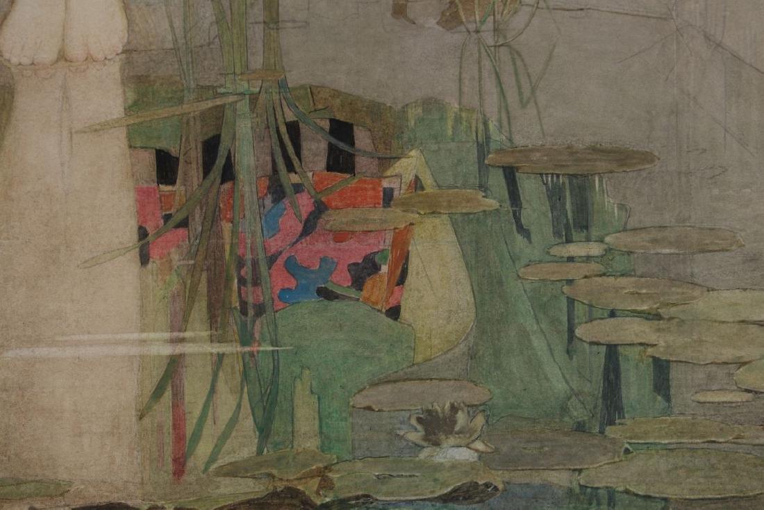 DOROTHY WEBSTER HAWKSLEY (1884-1970) WATERCOLOR - 10