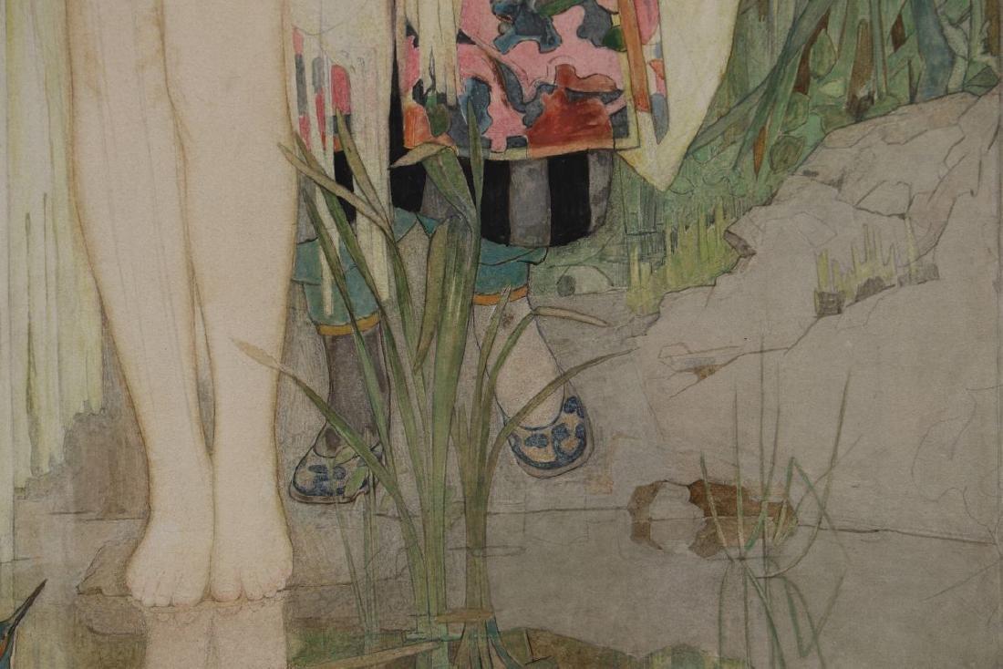 DOROTHY WEBSTER HAWKSLEY (1884-1970) WATERCOLOR - 9