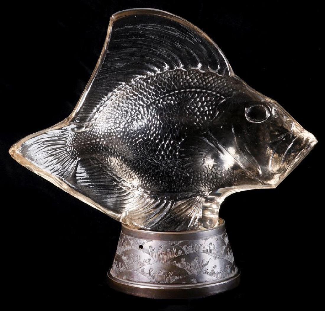 RENE LALIQUE GROS POISSONS VAGUES CRYSTAL LUMIERE