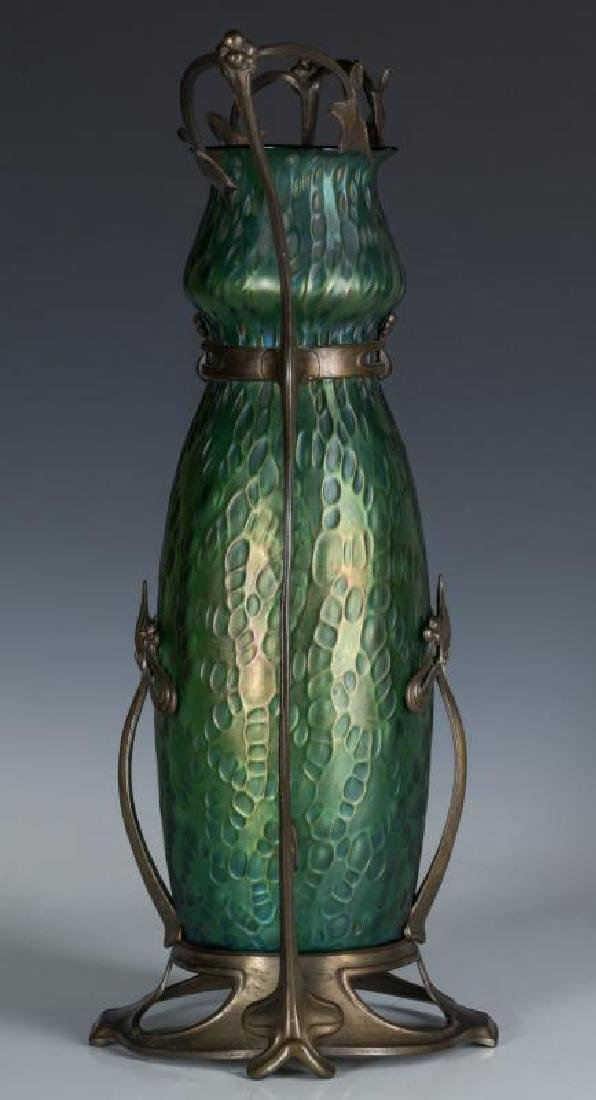 LOETZ VASE IN PATINATED MOUNTS, STYLE OF GURSCHNER - 2