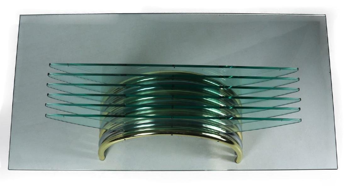 A MODERN GLASS/CHROME DINING TABLE ATT RENATO ZEVI - 3