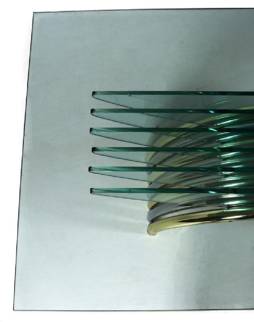 A MODERN GLASS/CHROME DINING TABLE ATT RENATO ZEVI - 4