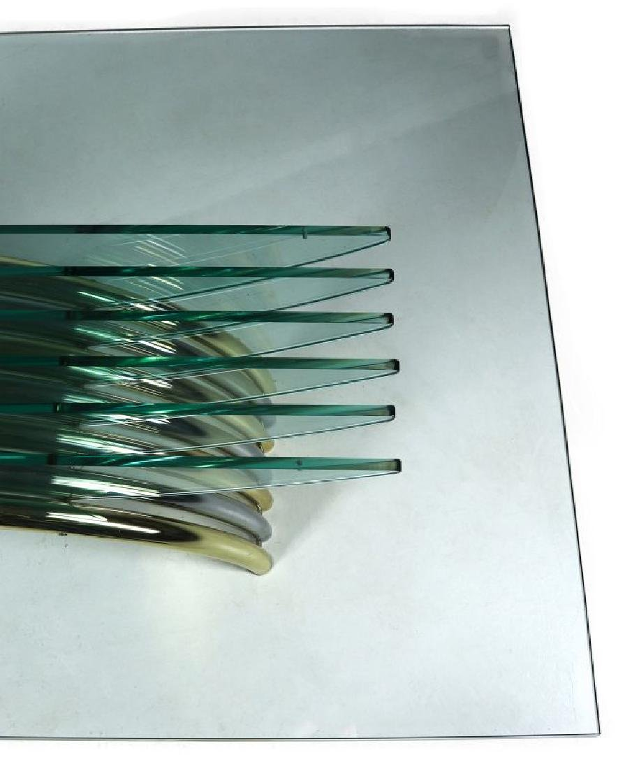 A MODERN GLASS/CHROME DINING TABLE ATT RENATO ZEVI - 6