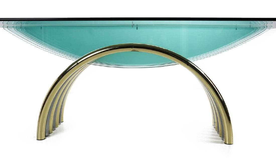 A MODERN GLASS/CHROME DINING TABLE ATT RENATO ZEVI - 7