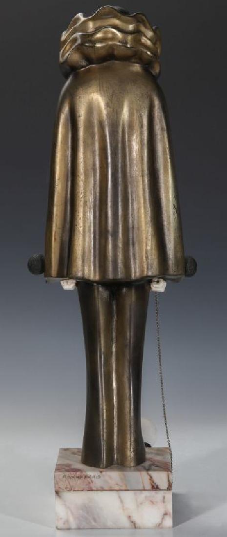 A ROLAND PARIS (1894-1945) ART DECO SCULPTURE - 7