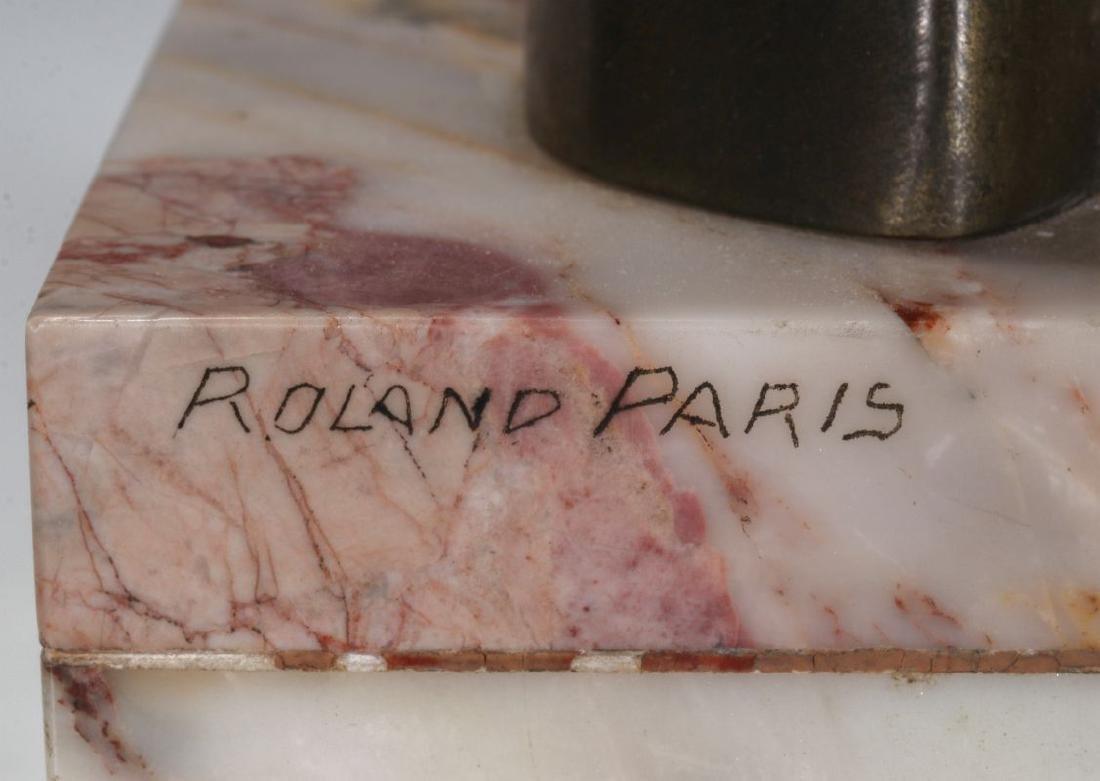 A ROLAND PARIS (1894-1945) ART DECO SCULPTURE - 8
