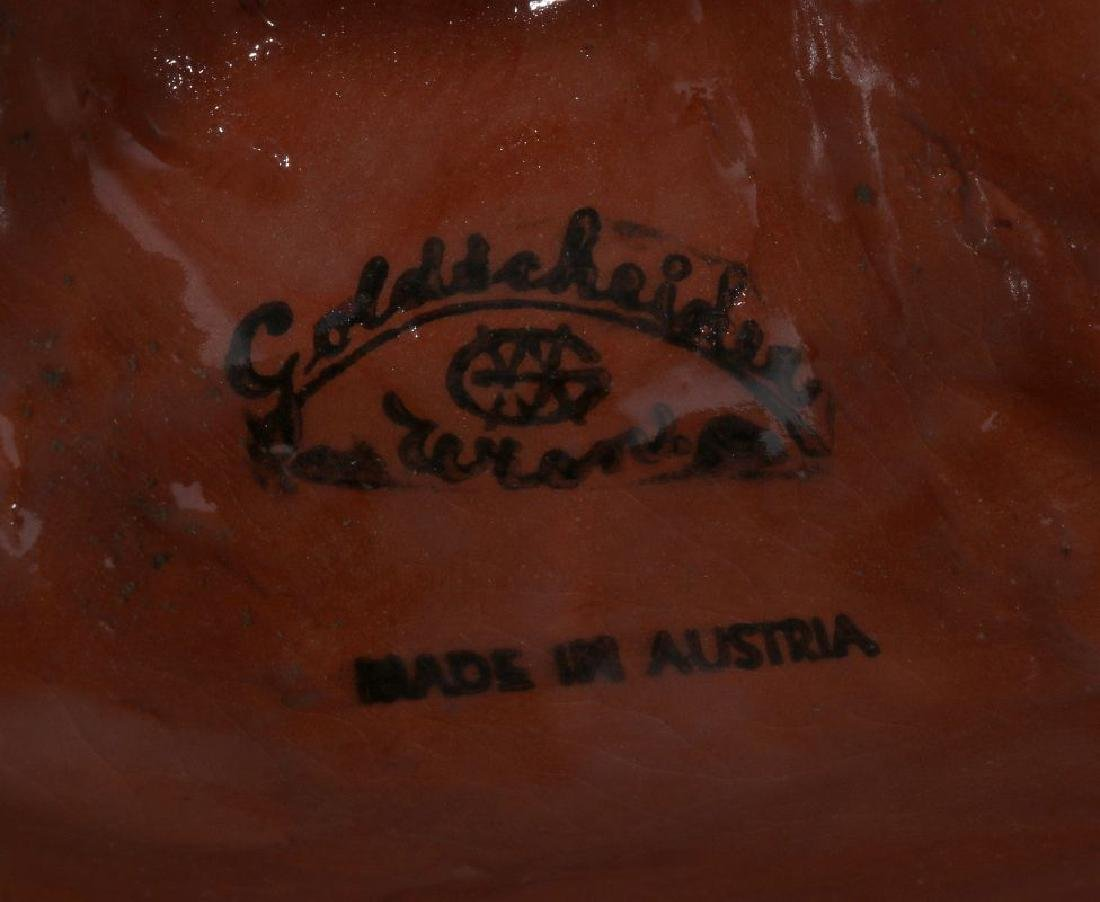 A GOLDSCHEIDER ART DECO GLAZED TERRA COTTA MASK - 10