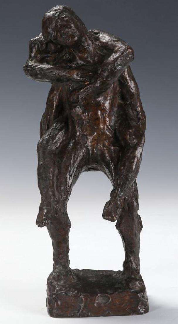 VICTOR SALMONES (1937-1989) BRONZE SCULPTURE