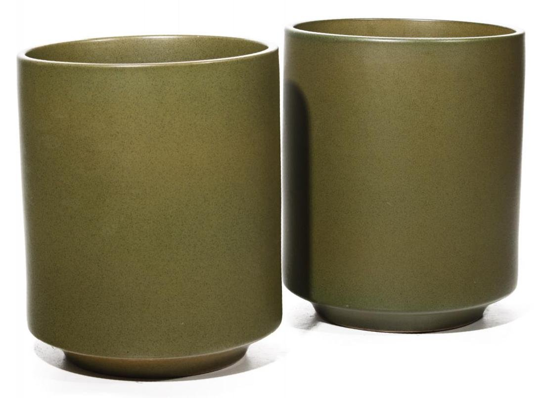 A PAIR LARGE MODERN POTTERY JARDINIERES - 3