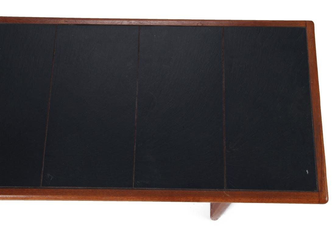 A DANISH MODERN SOFA TABLE, TEAK WITH SLATE INLAY - 2