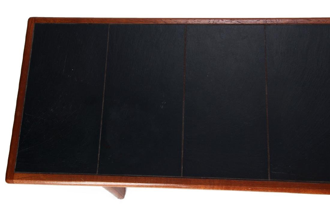 A DANISH MODERN SOFA TABLE, TEAK WITH SLATE INLAY - 3