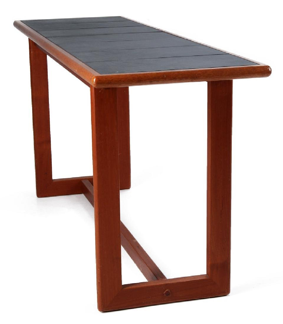 A DANISH MODERN SOFA TABLE, TEAK WITH SLATE INLAY - 5
