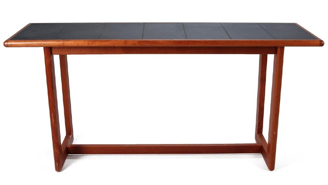 A DANISH MODERN SOFA TABLE, TEAK WITH SLATE INLAY - 6
