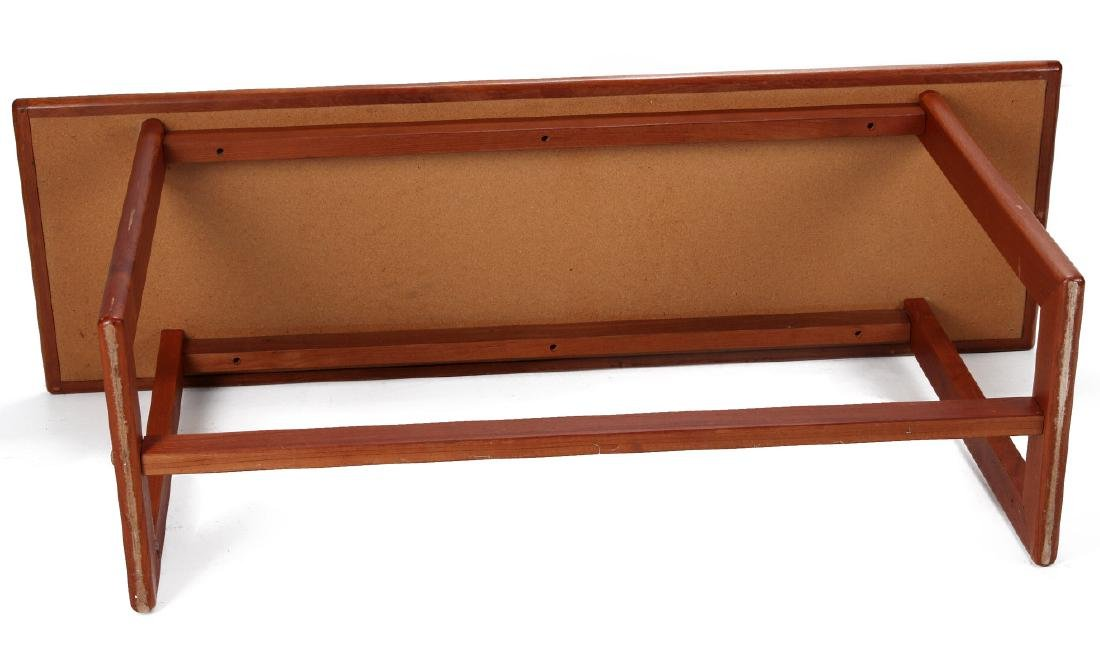 A DANISH MODERN SOFA TABLE, TEAK WITH SLATE INLAY - 8